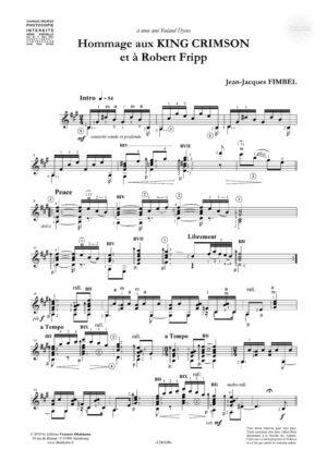 Hommage aux King Crimson et à Robert Fripp – Jean-Jacques Fimbel