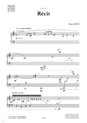 Piano traces by Bruno Giner