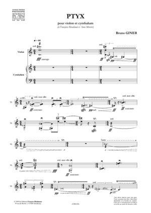 Ptyx – Bruno Giner