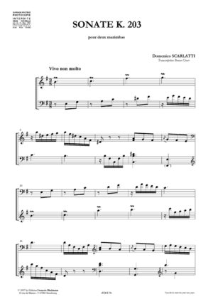 Sonate K. 203 in E minor – Domenico Scarlatti