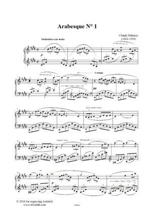 Arabesque Nr 1 – Claude Debussy