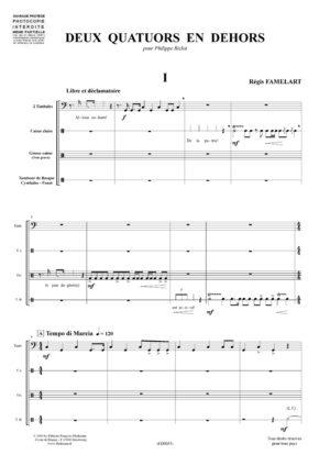 Deux quatuors en dehors – Régis Famelart
