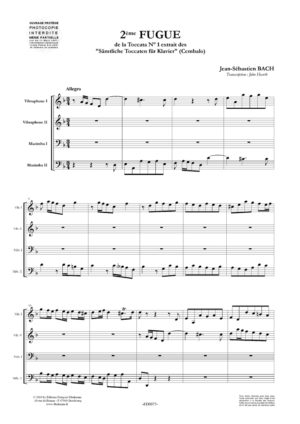 Deuxième fugue, de la Toccata N° 1 – Jean-Sébastien Bach.