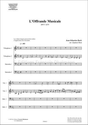 L'Offrande Musicale BWV 1079 – Jean-Sébastien Bach
