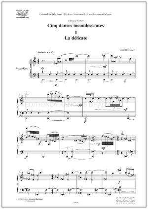 Cinq danses incandescentes – Gualtiero Dazzi