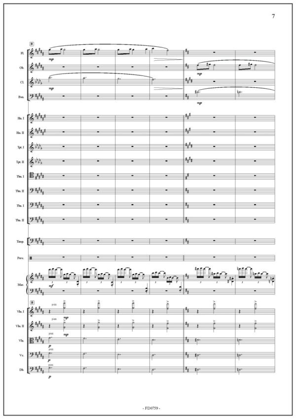 Marimba concerto Nr 7 - Chin Cheng Lin. Legend of the White Snake. Score and parts for symphonic orchestra