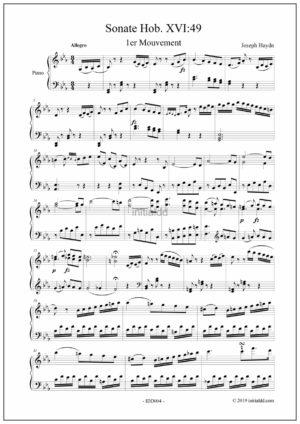 Joseph Haydn – Piano sonata Hob. XVI:49 first movement