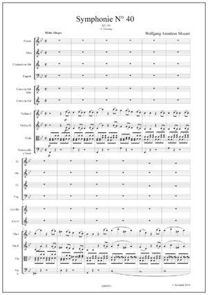 Symphony N°40 – KV550 – W.A. Mozart. 1st movement