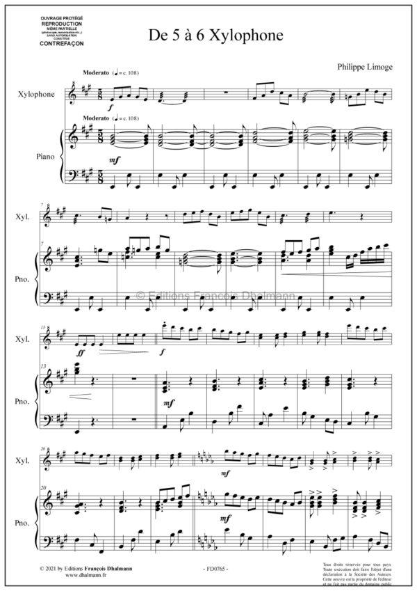 De 5 à 6 xylophone